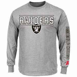 Oakland Raiders Dual Threat V Long Sleeve Tee - Click to enlarge