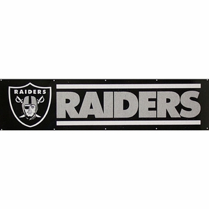 Oakland Raiders Eight Foot Banner - Click to enlarge