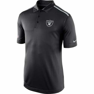 Oakland Raiders Nike Elite Sideline Polo - Click to enlarge