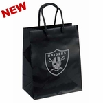 Oakland Raiders Emerald Medium Logo Black Gift Bag