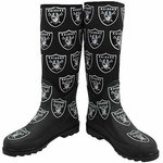Oakland Raiders Enthusiast Rain Boot