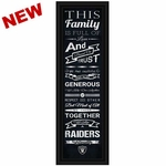 Oakland Raiders Family Cheer Print Sign
