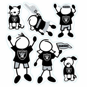 Oakland Raiders Family Magnet Set - Click to enlarge