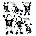 Oakland Raiders Family Magnet Set