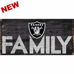 Oakland Raiders Family Wooden Sign