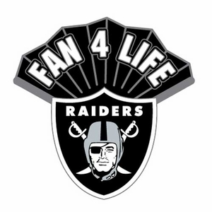 Oakland Raiders Fan 4 Life Pin - Click to enlarge