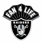 Oakland Raiders Fan 4 Life Pin