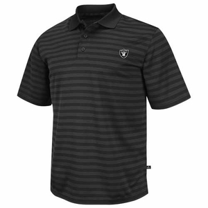 Oakland Raiders Fan Fair Striped Polo - Click to enlarge