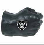 Oakland Raiders Fan Fist Black