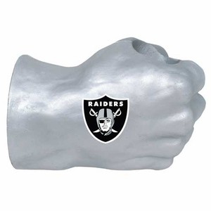 Oakland Raiders Fan Fist Silver - Click to enlarge