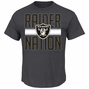 Oakland Raiders Fantasy Leader II Charcoal Tee - Click to enlarge