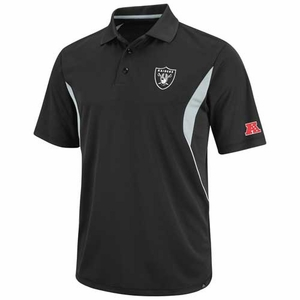 Oakland Raiders Field Classic V Black Polo - Click to enlarge
