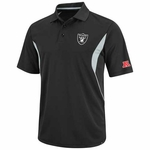 Oakland Raiders Field Classic V Black Polo