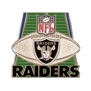 Oakland Raiders Field Lapel Pin - Click to enlarge