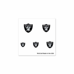 Oakland Raiders Finger Nail Tattoos