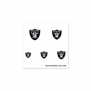 Oakland Raiders Finger Nail Tattoos - Click to enlarge