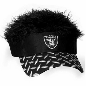 Oakland Raiders Flair Hair - Click to enlarge