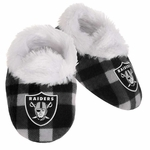 Oakland Raiders Flannel Baby Bootie