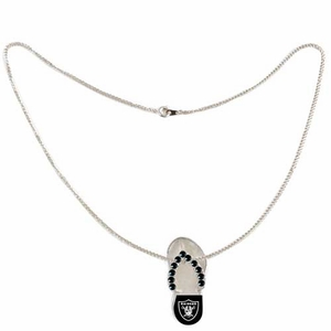Oakland Raiders Flip Flop Necklace - Click to enlarge