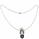 Oakland Raiders Flip Flop Necklace