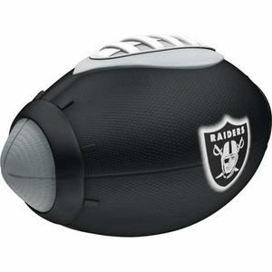 Oakland Raiders Foam Glow Football - Click to enlarge