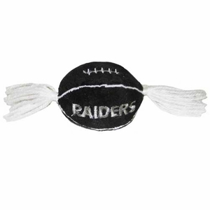 Oakland Raiders Football Catnip Toy - Click to enlarge