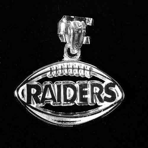 Oakland Raiders Football Charm Silver - Click to enlarge