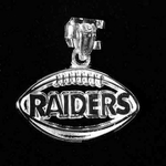 Oakland Raiders Football Charm Silver