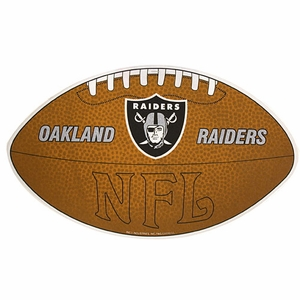 Oakland Raiders Football Shaped Pennant - Click to enlarge