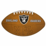 Oakland Raiders Football Shaped Pennant