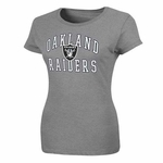 Oakland Raiders Forward Progress Gray Tee