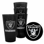 Oakland Raiders Four Pack 16oz Plastic Pint Set