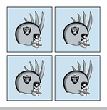 Oakland Raiders Four Pack Rusher Tattoo