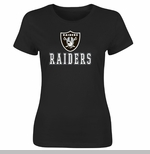 Oakland Raiders Franchise Fit IV Black Tee