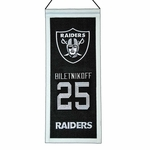 Raiders Fred Biletnikoff Mini Legacy Banner