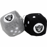 Oakland Raiders Fuzzy Dice