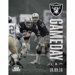Oakland Raiders Gameday Program Vs. San Diego Chargers