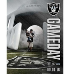 Oakland Raiders Gameday Program vs. Seattle Seahawks