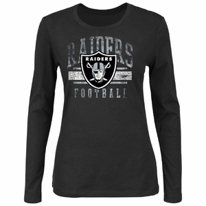 Oakland Raiders Gamer Gear III Black Long Sleeve Tee - Click to enlarge