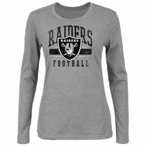 Oakland Raiders Gamer Gear III Grey Long Sleeve Tee - Click to enlarge
