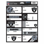 Oakland Raiders Gift Tag Decals