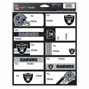 Oakland Raiders Gift Tag Decals - Click to enlarge