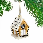 Oakland Raiders Gingerbread House Ornament