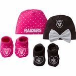 Oakland Raiders Girl's Cap and Bootie Set