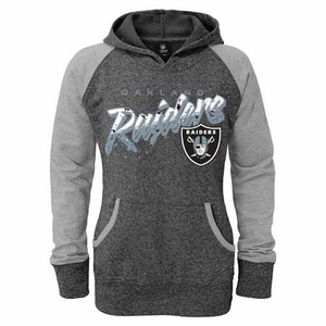 Oakland Raiders Girls Burnout Hoody - Click to enlarge