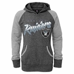Oakland Raiders Girls Burnout Hoody