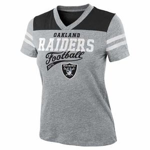 Oakland Raiders Girls Burnout Jersey Tee - Click to enlarge