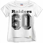 Oakland Raiders Girls Cheerleader Crew Tee