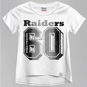 Oakland Raiders Girls Cheerleader Crew Tee - Click to enlarge