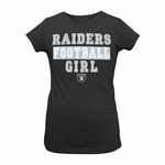 Oakland Raiders Girls Football Tee